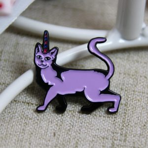 Purple Cat Pins