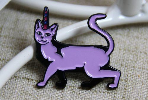 Purple Cat Pins