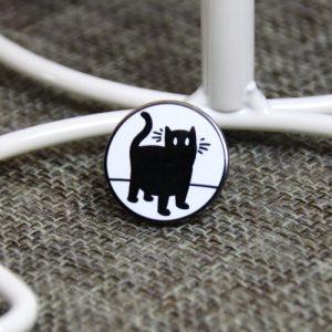 Black Cat Lapel Pin
