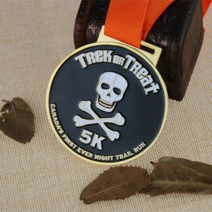 Custom Race Medals for Night Trail Run