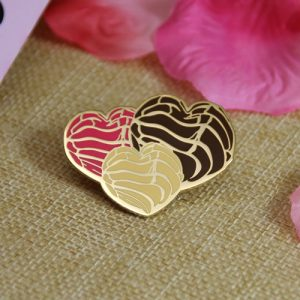 Different Heart-shaped Enamel Pins with Different Colors