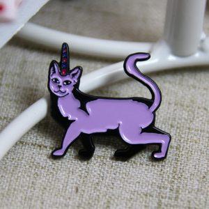 Purple Cat Lapel Pin