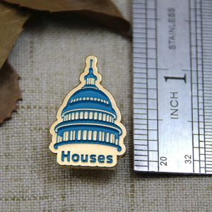 The Size of The Blue House Lapel Pin