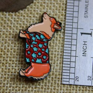 The Size of The Dog Custom Lapel Pin