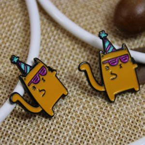 Two Yellow Cat Custom Lapel Pins