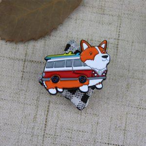 Dog Bus Lapel Pin
