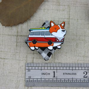 The Size of The Dog Bus Lapel Pin