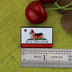 The Size of The Lovely Dog Lapel Pin
