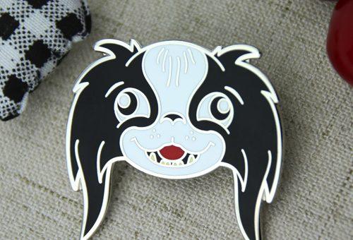 custom lapel pins , custom pins , enamel pin maker,pin manufacturers , hard enamel pins for Cartoon Dog