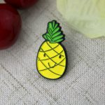 custom lapel pins , custom pins , enamel pin maker , pin manufacturers , soft enamel pins for Pineapple