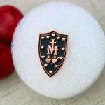 Cross Shield Lapel Pin