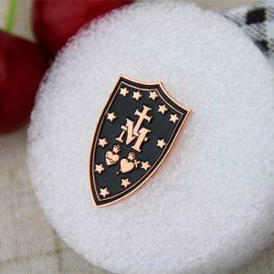 Cross Shield Lapel Pin