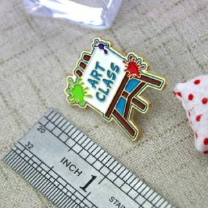 The Size of The Art Class Lapel Pin
