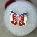 Red Bowknot Lapel Pin