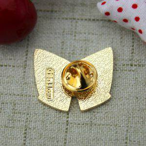 The Back of The Red Bowknot Lapel Pin