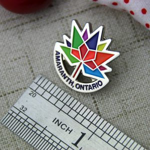 The Size of Amaranth Lapel Pin