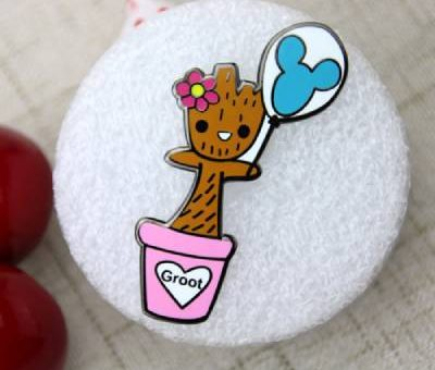 Wooden Child Lapel Pin
