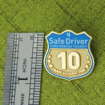 The Size of Safe Driver Lapel Pin