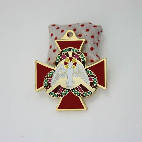 custom gold cross medals