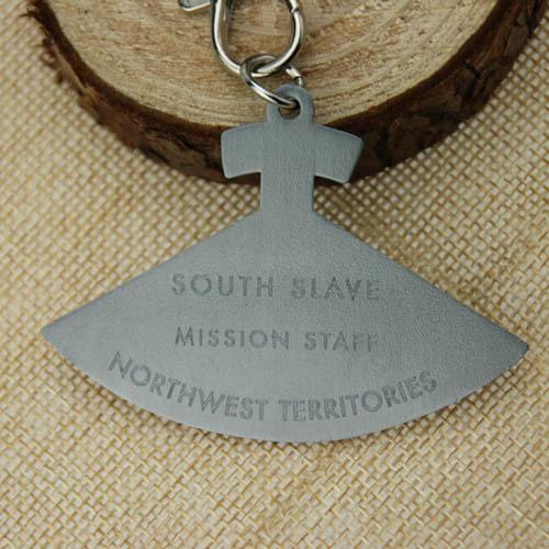 Antique silver medal backside