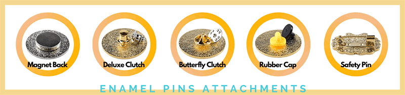Enamel Pins Attachments