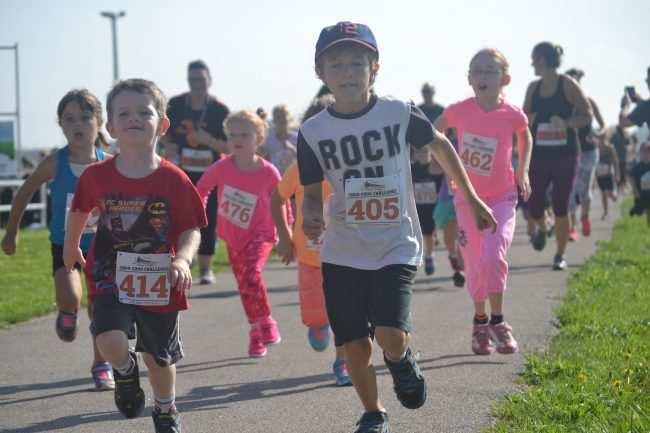 Kid's running race