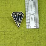 The Size of Diamond Lapel Pin