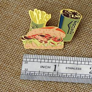 The Size of Fast Food Lapel Pin