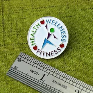 The Size of Health Lapel Pin