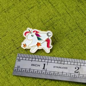 The Size of Unicorn Lapel Pin