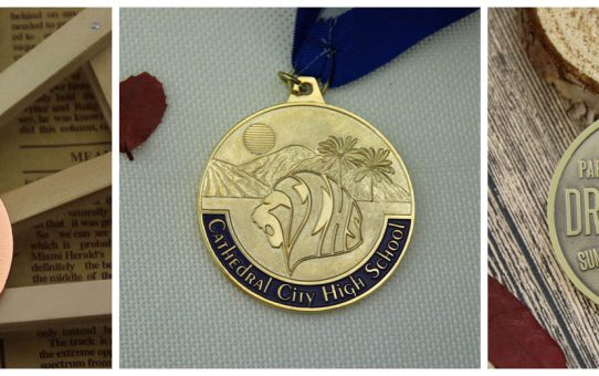 custom medal back side