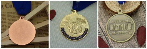custom medal back side