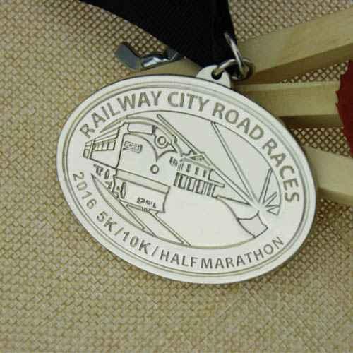 custom medal for railway station race