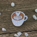 A Cup of Coffee lapel pin