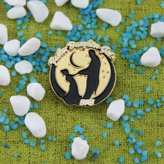 Father and Daughter Lapel Pin