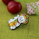 Fortune Cat Lapel Pin