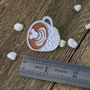 The Size of a Cup of Coffee lapel pin
