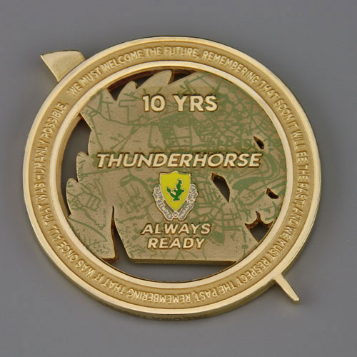 Thunder horse battalion military coins