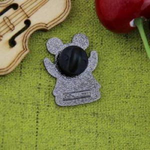 The Back of Ghost Emoji Custom Lapel Pin