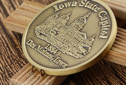 custom coins_Iowa state capitol 2