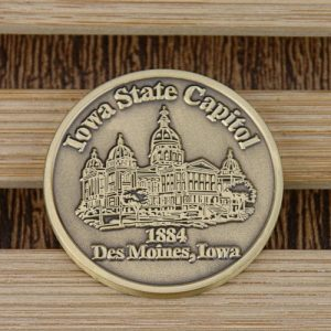 custom coins_Iowa state capitol
