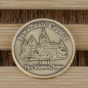 custom coins_Iowa state capitol