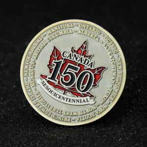 Canada 150th anniversary_challenge coins GS-JJ