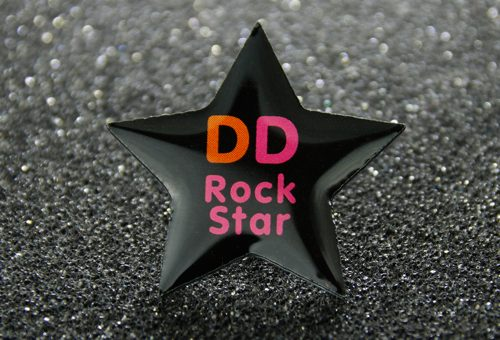 star custom lapel pins
