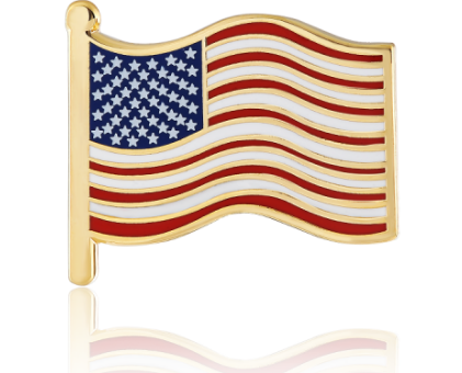 American flag lapel pin-GSJJ