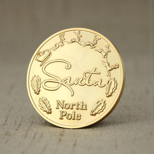 Santa Challenge Coins front_gs-jj.com