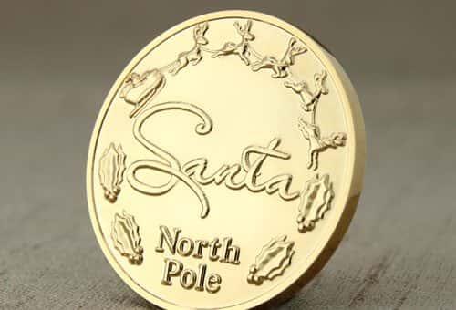 Santa Challenge Coins -jj.com
