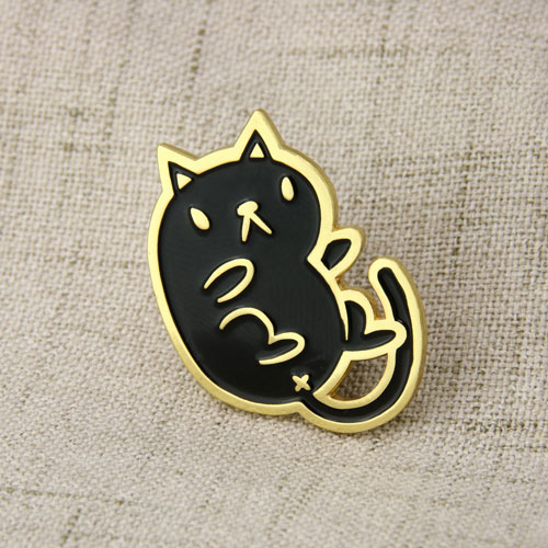 Black Cat Lapel Pins-GSJJ
