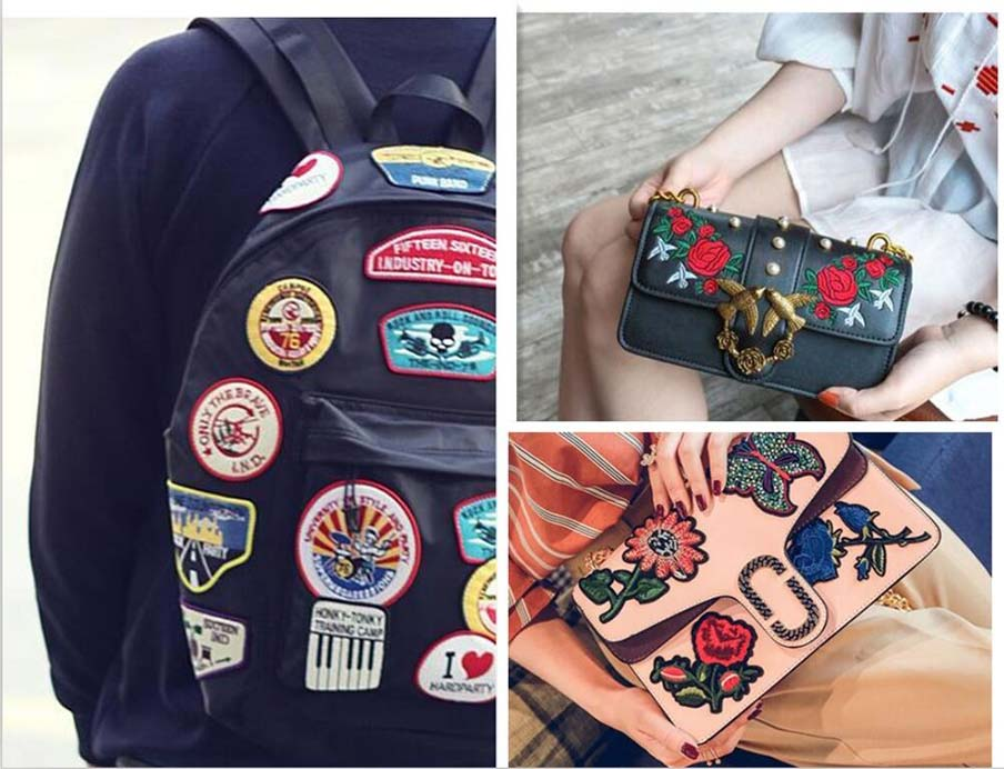 Embroidered Patches on the bags