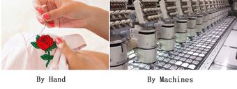 Hand VS Machine custom patches